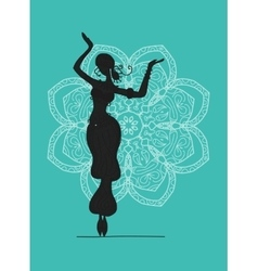 Belly dancer sketch for your design vector image