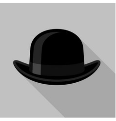 bowler hat icon flat style vector image