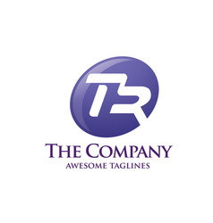 letter tr logo vector image vector image