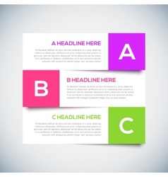 Modern infographics Design Layout with shadow vector image