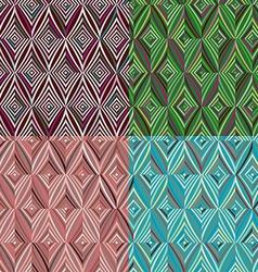 Set of 4 seamless pattern Modern stylish texture vector image