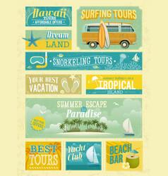 Summer advertise vector