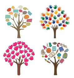 abstract trees concept vector image vector image