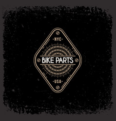 bike parts label vector image vector image
