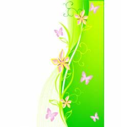 floral bg vector image