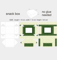 Green Snack Box 12x14x65cm vector image