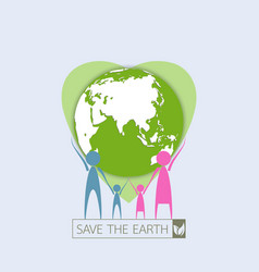 human family protect the earth vector image vector image