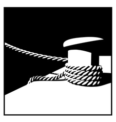 Knecht and mooring ropes black and white vector image vector image