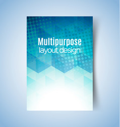 multipurpose layout design 2 vector image