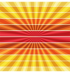 Summer rays holiday vintage on light sun color vector image