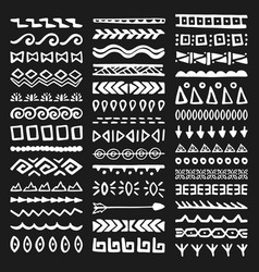 borders collection in ethnic style vector image vector image
