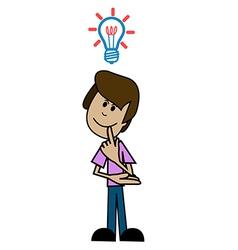 Cartoon man thinker vector image vector image