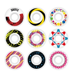 design skate wheels vector image vector image