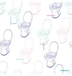 flush toilet seamless pattern vector image