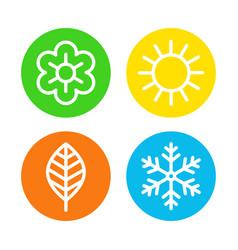 four seasons logo set vector image vector image