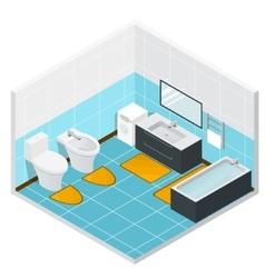 Isometric Bathroom Detailed Interior vector image
