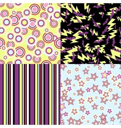 kawaii patterns of Halloween related objects vector image
