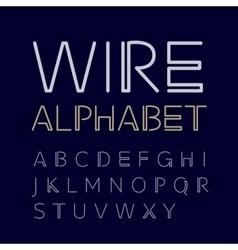 linear uppercase alphabet vector image