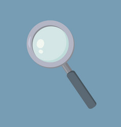 magnifying glass loupe school supplies zoom vector image vector image