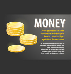 money design banner vector image