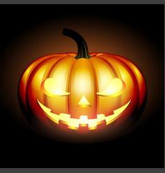 scary jack halloween pumpkin vector image vector image