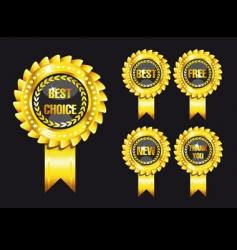 set of black award labels vector image