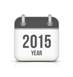 2015 Year Calendar App Icon With Reflection vector image