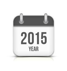 2015 year calendar app icon with reflection vector
