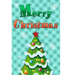 A christmas card template vector