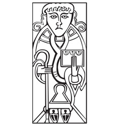 An old celtic symbol of saint luke vector