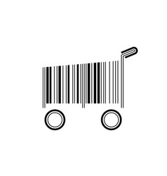 barcode shopping cart vector image