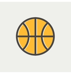 Basketball ball thin line icon vector image vector image