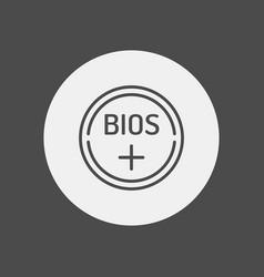 bios battery icon sign symbol vector image