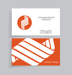 Business card design with flat paper embleml vector