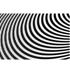 bw halftone circle background vector image