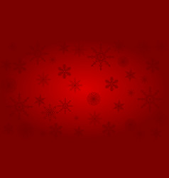 Christmas background of big and small snowflakes vector