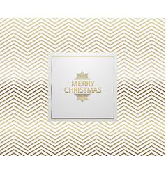 christmas background with shining golden zigzag vector image