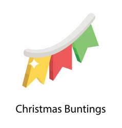 Christmas buntings vector