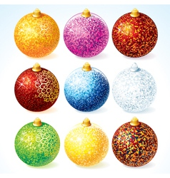 Christmas Decorative Balls vector image