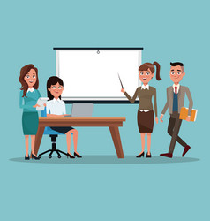color background teamwork business people in vector image