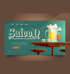 cowboy saloon cartoon landing wild west tavern vector image