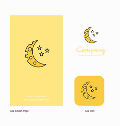 crescent and stars company logo app icon and vector image