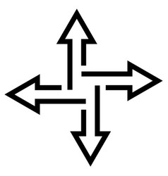 crossroads arrows indicate path flat vector image