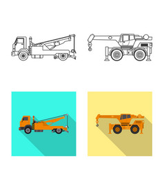 Design of build and construction logo vector