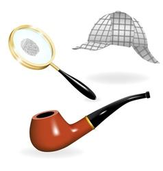 Detective set vector image