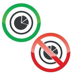 Diagram permission signs vector