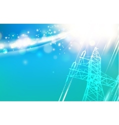 Electric power tower vector