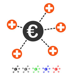 Euro medical links flat icon vector