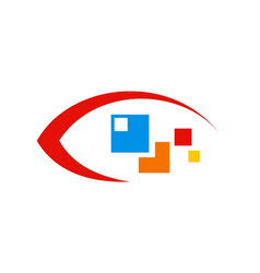 eye technology logo vector image