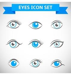 Eyes Icons Set vector image